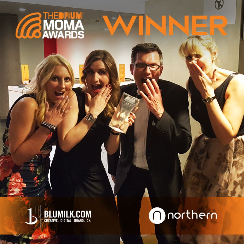 Blumilk & Northern Railways beat Starbucks and Jet2 to Win Best Integrated Media Strategy & Campaign at The Drum Marketing on Mobile Awards