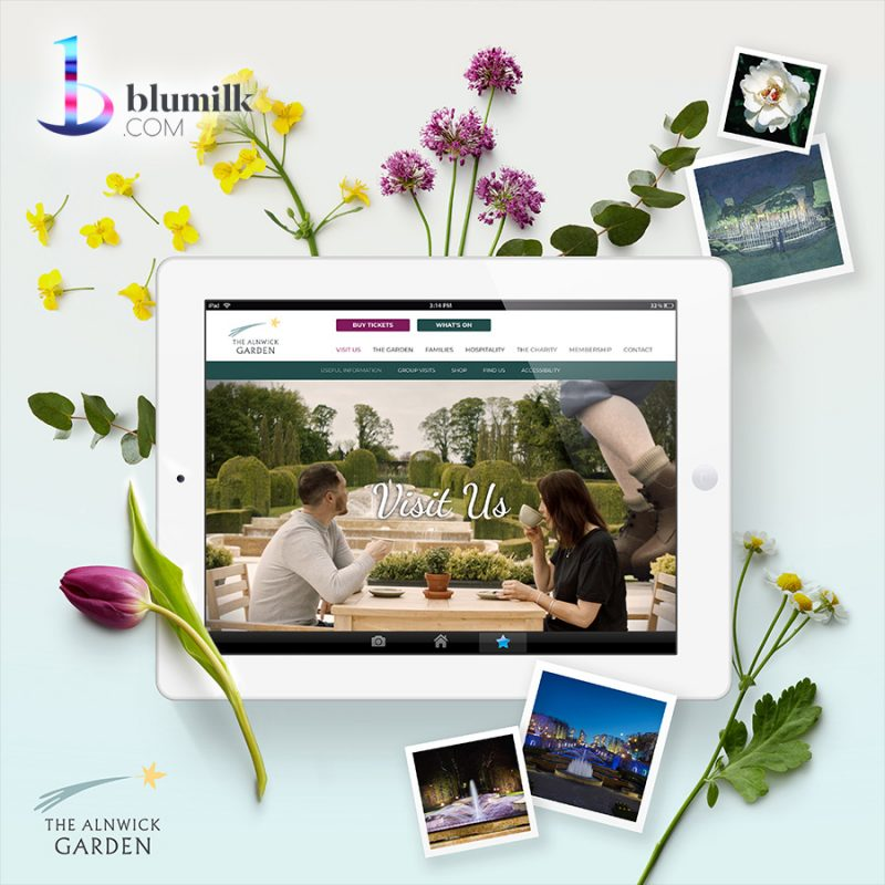 Brand new website for The Alnwick Garden